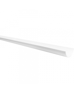 Polypipe 112mm Half Round Gutter - 4 Metre - White
