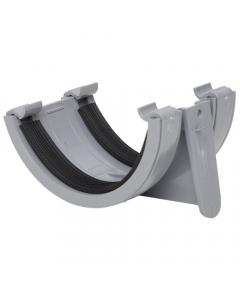 Polypipe 112mm Half Round Gutter Union Bracket - Grey