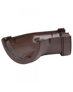 Polypipe 112mm Half Round Gutter 135 Degree Angle - Brown