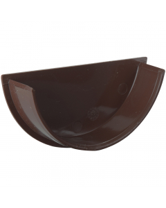 Polypipe 112mm Half Round Gutter Internal Stopend - Brown