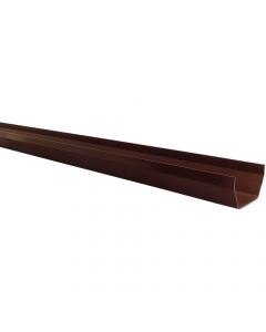 Polypipe 112mm Square Gutter - 2 Metre - Brown