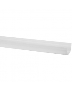 Polypipe 112mm Square Gutter - 4 Metre - White