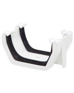Polypipe 112mm Square Gutter Union Bracket - White