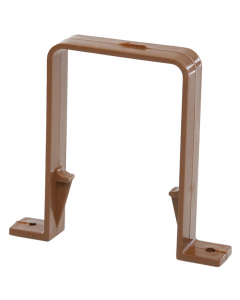Polypipe 65mm Square Down Pipe Clip - Caramel