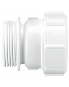 """McAlpine MacValve BSP Male to Universal Connection Straight Connector - BSP 1 ¼"""""""