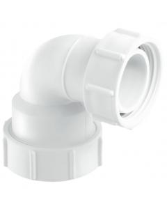 "McAlpine Waste Multifit 95 Degree Bend with BSP Coupling Nut - BSP 1 ¼"""