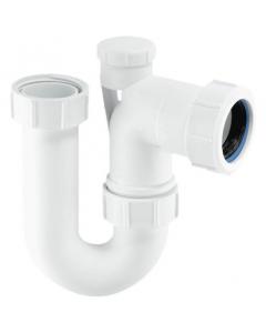 """McAlpine 75mm Water Seal Tubular Swivel P Trap - 1 ¼"""" - Standard Inlet (Anti-Syphon)"""