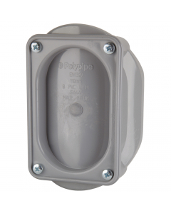 Polypipe 82mm Push Fit Soil and Vent Access Saddle - Grey
