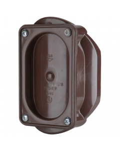 Polypipe 110mm Push Fit Soil and Vent Access Saddle - Brown
