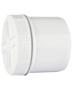 Polypipe 110mm Push Fit Soil and Vent Spigot Access Cap - White