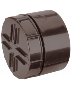 Polypipe 110mm Push Fit Soil and Vent Socket Access Cap - Brown