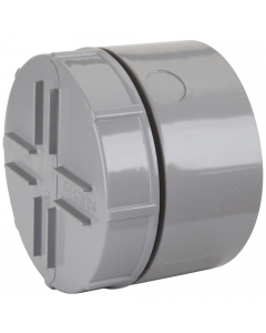 Polypipe 110mm Push Fit Soil and Vent Socket Access Cap - Grey