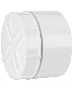 Polypipe 110mm Push Fit Soil and Vent Socket Access Cap - White