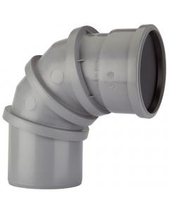 Polypipe 110mm Push Fit Soil and Vent 0 - 90 Degree Adjustable Bend