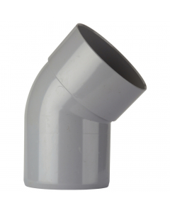 Polypipe 110mm Push Fit Soil and Vent Single Socket 135 Degree Offset Bend - Grey