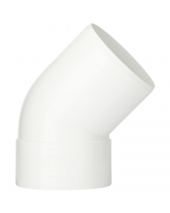Polypipe 110mm Push Fit Soil and Vent Single Socket 135 Degree Offset Bend - White