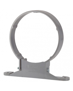 Polypipe 110mm Push Fit Soil and Vent Complete Pipe Clip - Grey