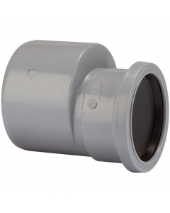 Polypipe 110mm to 82mm Push Fit Soil and Vent Reducer - Grey