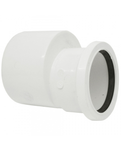 Polypipe 110mm to 82mm Push Fit Soil and Vent Reducer - White