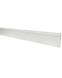 Mr Plastic 95mm x 12mm Ogee Plastic Skirting Board - 2.5 metre - White