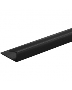 SplashPanel PVC 10mm End Cap - 2.4 Metre - Black