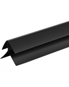 SplashPanel PVC 10mm External Corner Trim - 2.4 Metre - Black