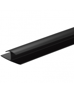 SplashPanel PVC 10mm H Joiner Trim - 2.4 Metre - Black