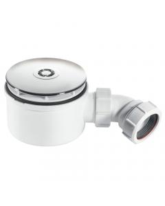 """McAlpine 50mm Water Seal 90mm Shower Trap - 1½"""" (CP Brass Flange)"""