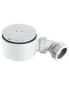 "McAlpine 50mm Water Seal 90mm Shower Trap - 1½"" (White Plastic Flange)"