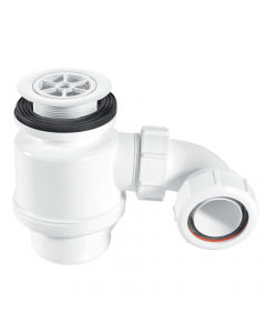 "McAlpine 50mm Water Seal Resealing Shower Trap - 1½"" (70mm White Plastic Flange)"