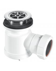 """McAlpine 19mm Water Seal Shower Trap - 1½"""" (85mm CP Brass Flange)"""
