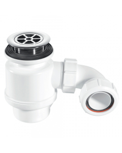 "McAlpine 50mm Water Seal Resealing Shower Trap - 1½"" (85mm CP Brass Flange)"