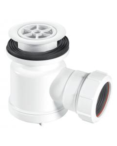 "McAlpine 19mm Water Seal Shower Trap - 1½"" (70mm White Plastic Flange)"