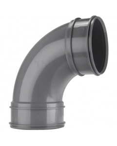 Polypipe 110mm Solvent 2000 Soil and Vent Double Socket 92.5 Degree Bend