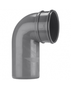 Polypipe 110mm Solvent 2000 Soil and Vent Single Socket 90 Degree Bend