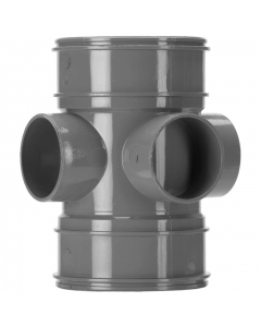 Polypipe 110mm Solvent 2000 Soil and Vent Double Socket 3 Way Boss Pipe