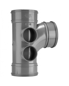 Polypipe 110mm Solvent 2000 Soil and Vent Triple Socket 92.5 Degree Branch
