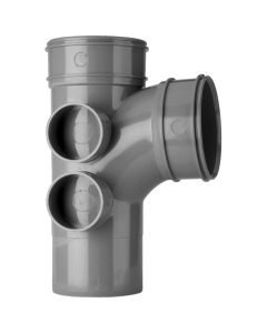 Polypipe 110mm Solvent 2000 Soil and Vent Double Socket 92.5 Degree Branch