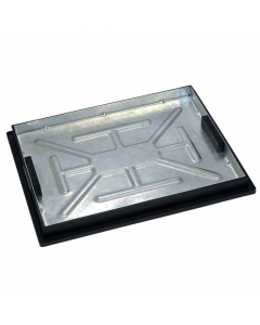Clark Drain 600mm x 450mm Rectangular Recessed Tray Cover and Frame (Concrete)