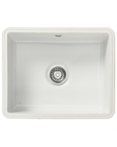 Tuscan Poppi Ceramic Undermount Sink - 1 Bowl - Polar White