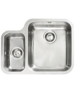 Tuscan Florence Stainless Steel Undermount Sink - 1.5 Bowl - Left Hand Small Bowl