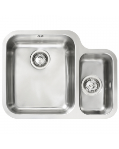 Tuscan Florence Stainless Steel Undermount Sink - 1.5 Bowl - Right Hand Small Bowl