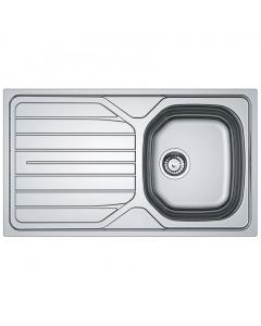 Tuscan Versilia Satin Polished Stainless Steel Inset Sink - 1 Bowl