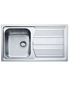 Tuscan Pienza Polished Stainless Steel Inset Sink - 1 Bowl