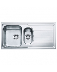 Tuscan Pienza Polished Stainless Steel Inset Sink - 1.5 Bowl
