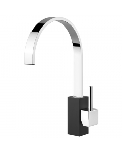 Tuscan Parrina Kitchen Tap - Chrome/Black