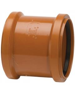 Polypipe 82mm Underground Drainage Double Socket Coupler