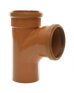 Polypipe 82mm Underground Drainage Double Socket 87.5 Degree Equal Junction