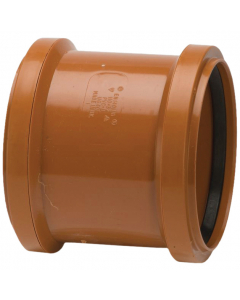 Polypipe 110mm Underground Drainage Double Socket Slip Coupler