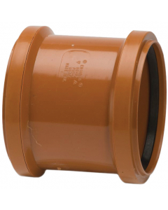 Polypipe 110mm Underground Drainage Double Socket Coupler